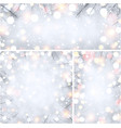 winter holiday backgrounds with fir branches vector image vector image