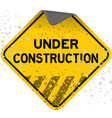 dusty under construction vector image