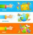 Summer Vacation Banner Set vector image