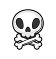 skull Icon on white background vector image