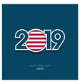 2019 liberia typography happy new year background vector image vector image