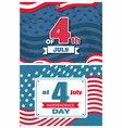 4 july event in united states symbolizing unity vector image