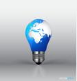 A light bulb with modern globe vector image vector image