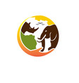 africa animal care logo designs simple and modern vector image