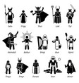 ancient norse mythology gods and goddesses vector image