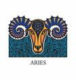aries horoscope zodiac sign vector image vector image