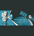 banner for science fiction movie festival vector image vector image