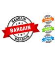bargain stamp round band sign set label vector image vector image