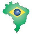 boutline of Brazil vector image