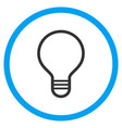 bulb rounded icon vector image