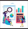 business analysis teamwork vector image vector image