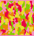 camouflage seamless pattern in a red yellow pink vector image vector image