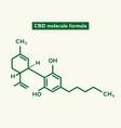 cannabidiol cbd molecule science vector image vector image