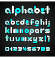 Colorful Decorative Alphabet vector image