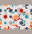 colorful pattern with stars seamless vector image