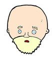 comic cartoon shocked man with beard vector image vector image