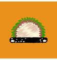 flat icon design collection grass and bush vector image