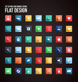 flat icon set 2 vector image
