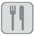 Fork and knife symbol lunch cutlery vector image