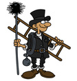 Funny classic chimneyer vector image vector image