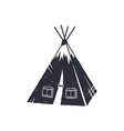 hand drawn camp tent shape indian style tent vector image vector image