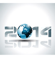 high tech 2014 happy new year background vector image
