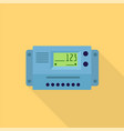 home electric meter icon flat style vector image vector image
