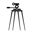 isolated tripod silhouette vector image