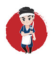 japanese chef vector image vector image