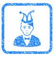 joker framed stamp vector image