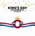 kings day celebrate template design vector image vector image