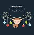 merry christmas card merry christmas card vector image vector image