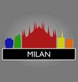 milan skyline vector image vector image