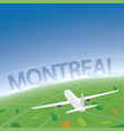 montreal flight destination vector image
