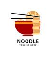 noodle logo icon design vector image