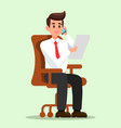 office man talking on phone flat vector image vector image