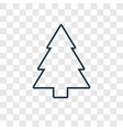 pine concept linear icon isolated on transparent vector image