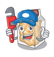 plumber pork rinds in character plastic vector image vector image