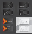 print business card template vector image vector image