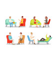 psyhologist appointment mental care color flat vector image