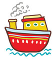red and yellow colorful boat or color vector image vector image