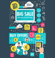 sale offer flat banner for online shopping concept vector image vector image