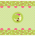 seamless baby pattern baby card vector image vector image