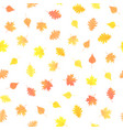 seamless pattern with autumn orange leaves vector image