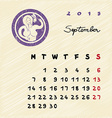 september 2015 zodiac vector image vector image