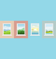 set windows with different vector image