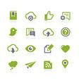 social sharing icons natura series vector image vector image