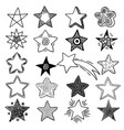 stars doodle celebration happy lighting symbols vector image