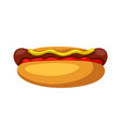 stylized hot dog vector image