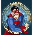 the gentle side superhero vector image vector image